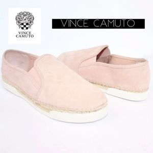 Vince Camuto Espadrille Pink Suede Shoes 7.5 NEW